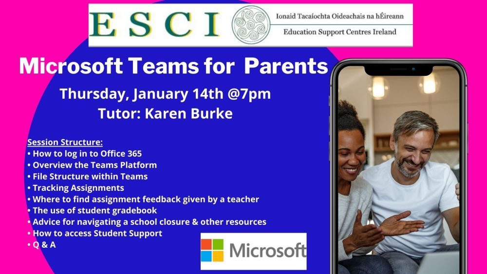 Jan 14 Microsoft Teams for Parents